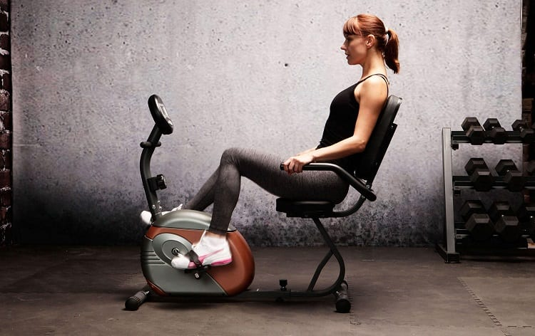Exercise on Recumbent Bike